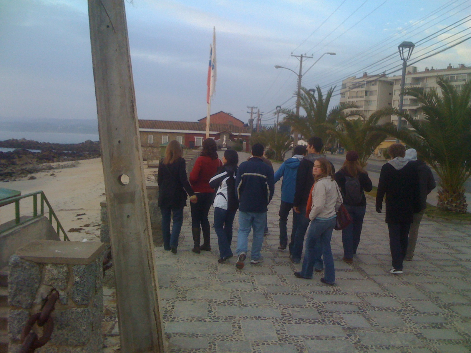 The group walking through Algarrobo.